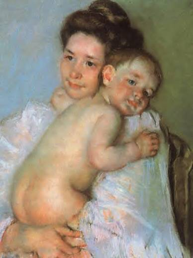 Mary-Cassatt-Mother-Berthe-Holding-Her-Baby-Oil-Painting